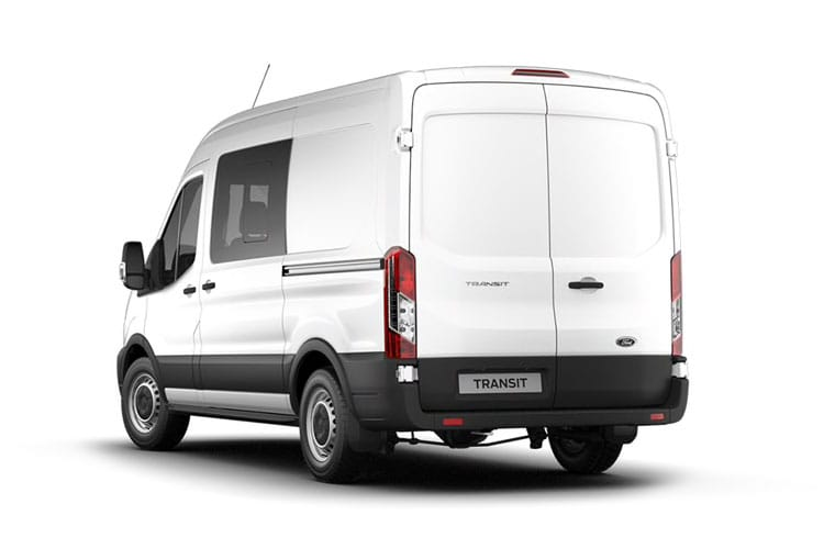 Ford Transit 350 L3 2.0 EcoBlue FWD 130PS Trend Crew Van High Roof Manual [Start Stop] [DCiV] back view