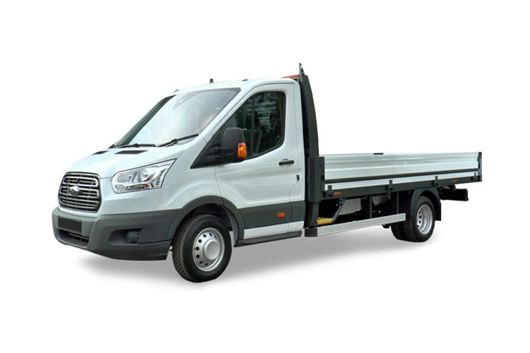 Ford Transit 350 L3 AWD 2.0 EcoBlue 4WD 130PS Leader Premium Dropside Manual [Start Stop] front view