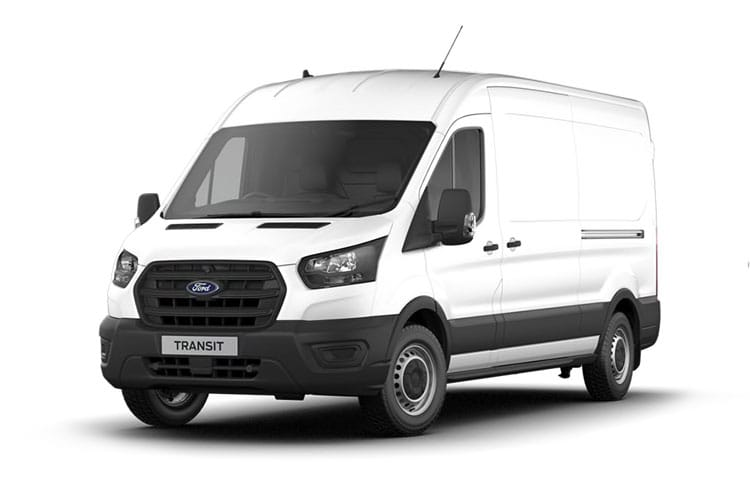 Ford Transit 350HD L3 RWD 2.0 EcoBlue DRW 170PS Trend Van Medium Roof Auto [Start Stop] front view