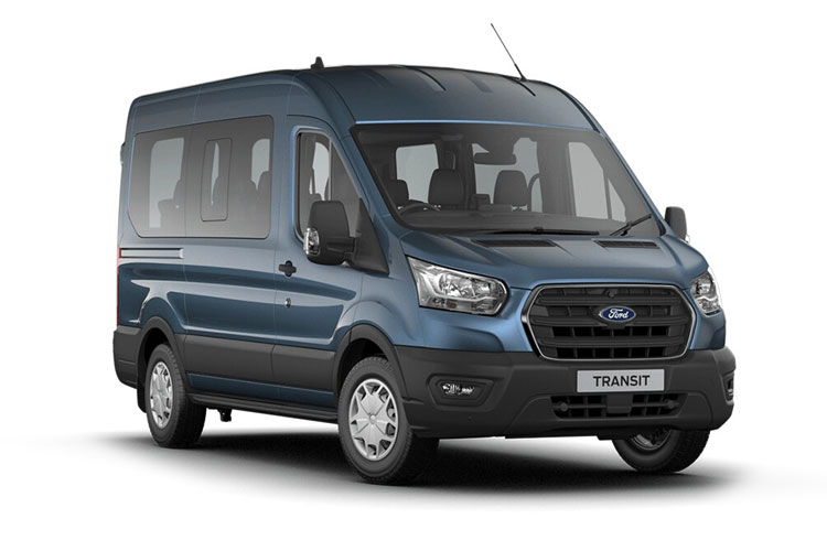 Ford Transit 15-17 Seat 410 L3 Minibus RWD 2.0 EcoBlue RWD 170PS Trend MiniBus High Roof Auto [Start Stop] [15Seat] front view