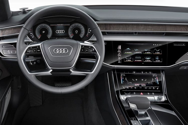 Audi A8 50 Saloon quattro 4Dr 3.0 TDI V6 286PS S line 4Dr Tiptronic [Start Stop] inside view